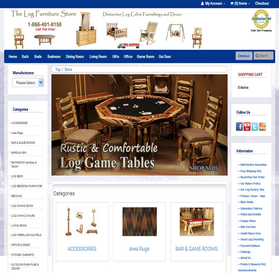 Logfurniture-Webtenet